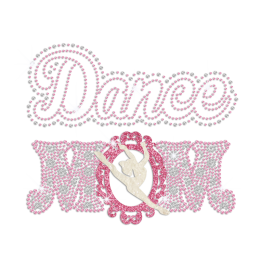 Dance Mom Hotfix Rhinestone Glitter Transfer