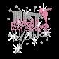 Just Dance Iron on Rhinestone Glitter Transfer Motif