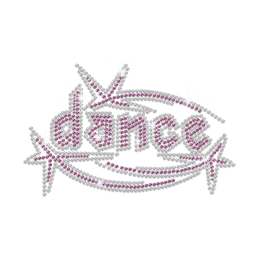 Bling Dance Iron on Rhinestone Transfer Decal
