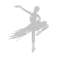 Crystal Ballet Iron on Rhinestone Transfer Motif