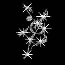 Crystal Musical Notation Iron on Rhinestone Transfer Motif