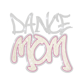 Glittering Dance Mom Iron on Nailhead Transfer Decal
