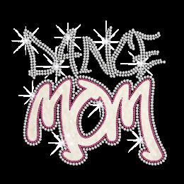 Glittering Dance Mom Iron on Nailhead Transfer Decal