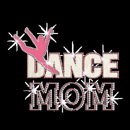 Glittering Jumping Dance Mom Iron on Nailhead Transfer Motif