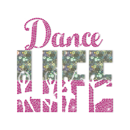ISS Holofoil Dance Life Rhinestud Decal