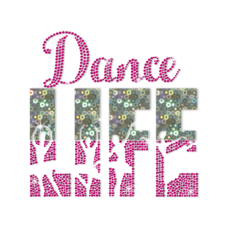ISS Holofoil Dance Life Rhinestud Decal