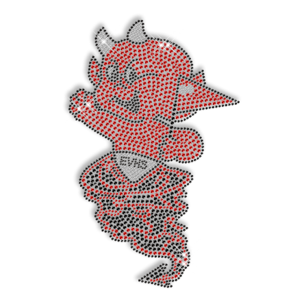 Angel Devil Baby Custom Diamante Iron on Design