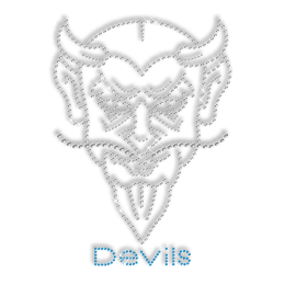 Devil Leader Hotfix Crystal Custom Tattoo Transfer