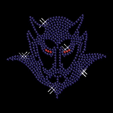 Monster Devil Rhinestone Iron on Tshirt Transfer
