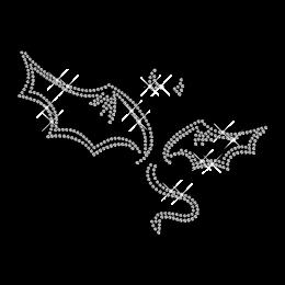 Devil Symbol Crystal Iron on Motif Pattern