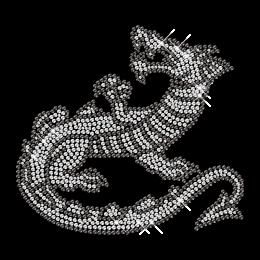 Sparkling Rhinestone Iron on Crystal Dragon Motif for Clothes