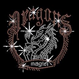 Cool  Dragon Magic with Dragon Customized Ironon Rhinestone Design for Man