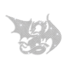 Crystal Custom Dragon Hotfix Rhinestone Design for Clothes