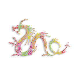 Splendid Custom Dragon Customized Ironon Rhinestone Motif