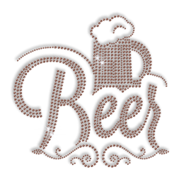 Beer Iron Rhinestone Transfer for Clothes