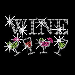 Wholesale Wine Iron on Rhinestone Transfer