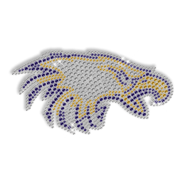 Sparkling Eagle Head Rhinestone Iron on Transfer Design for Clothes