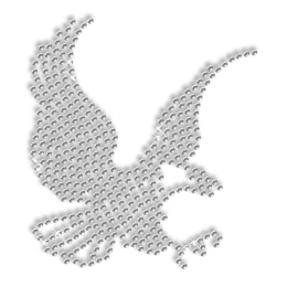 Shining Rhinestone Flying Eagle Iron on Transfer Motif for Clothes