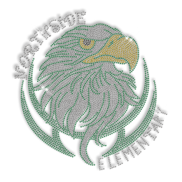 Best Custom Shinning Northside Elementary Rhinestone Iron on Transfer Motif for Garments