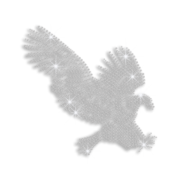 Crystal Eagle Ironon Rhinestone Design for Clothes
