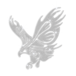 Crystal Customized Eagle Ironon Rhinestone Design for Clothes