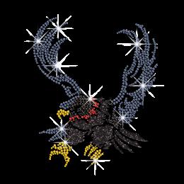 Shining Eagle Hotfix Rhinestone Transfer for Clothes