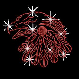 Wholesale Ruby Eagle Hotfix Rhinestone Transfer for Garments