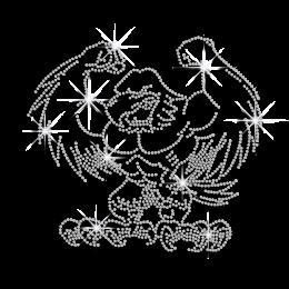 Crystal Eagle Ironon Rhinestone Design for Clothes