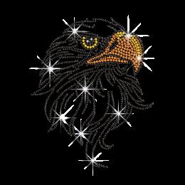 Beautiful Eagle Hot-fix Rhinestone Motif Custom for T-shirt
