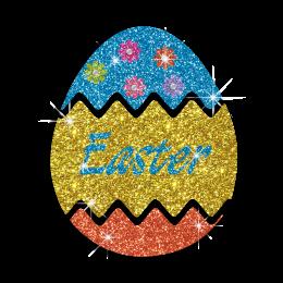 Easter Egg Custom Hotfix Rhinestone Transfer