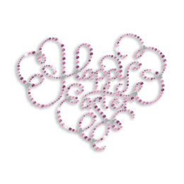 Noble Happy Easter Letters Rhinestone Hot Fix Transfer