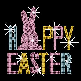 Happy Easter Iron on Nailhead Transfer Motif