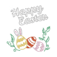 Happy Easter Bling Egg Iron on Glitter Rhinestone Transfer Decal