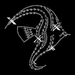 Best Custom Shinning Pure Crystal Fish Rhinestone Iron on Transfer Design for Shirts