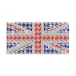 Bright British Flag Iron on Rhinestone Design for Clothes