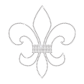 Simple Crystal Iron-on Fleur de lis Rhinestone Motif