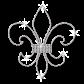 Simple Crystal Iron-on Fleur de lis Rhinestone Motif