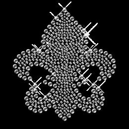 Gray Fleur De Lis Iron ons