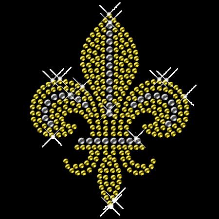 Gold Antique Metal Fleur De Lis Iron ons
