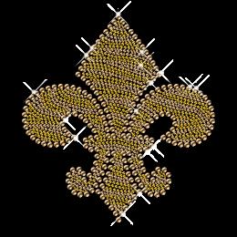 Gold Antique Metal Fleur De Lis Iron on Transfer