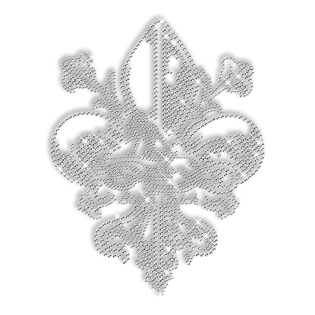 Crystal Rhinestone Beauty Fleur De Lis Iron ons