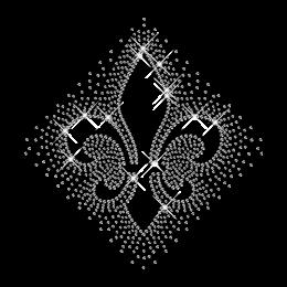 Pure Crystal Rhinestone Fleur De Lis Iron ons