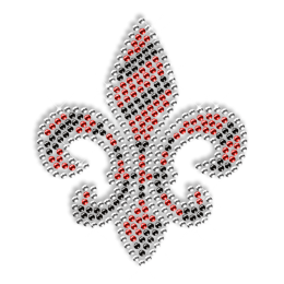 Crystal and Ruby Fleur De Lis Iron on Pattern