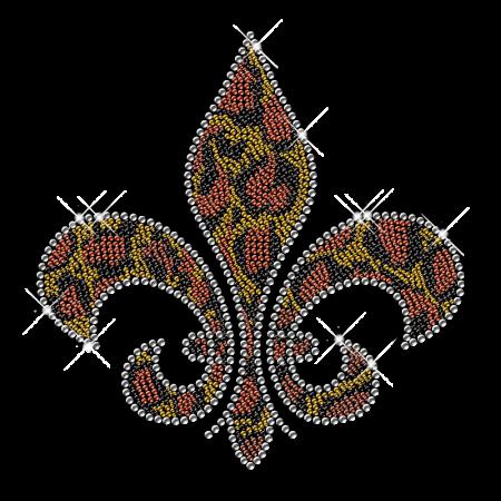 Colorful Rhinestone Fleur De Lis Iron ons
