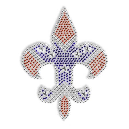 Crystal and Blue  Fleur De Lis Iron ons