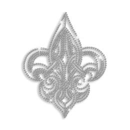 Shining Fleur de Lis Hot-fix Rhinestone Transfer for Clothes