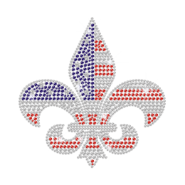 Shining Iron on America Iris Rhinestone Pattern