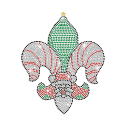 Creative Christmas-Style Fleur De Lis Iron on Rhinestone Transfer