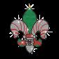 Creative Christmas-Style Fleur De Lis Iron on Rhinestone Transfer