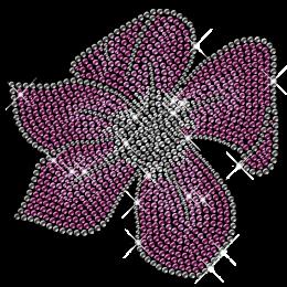 Purple Rhinestone Flower Iron on Motifs